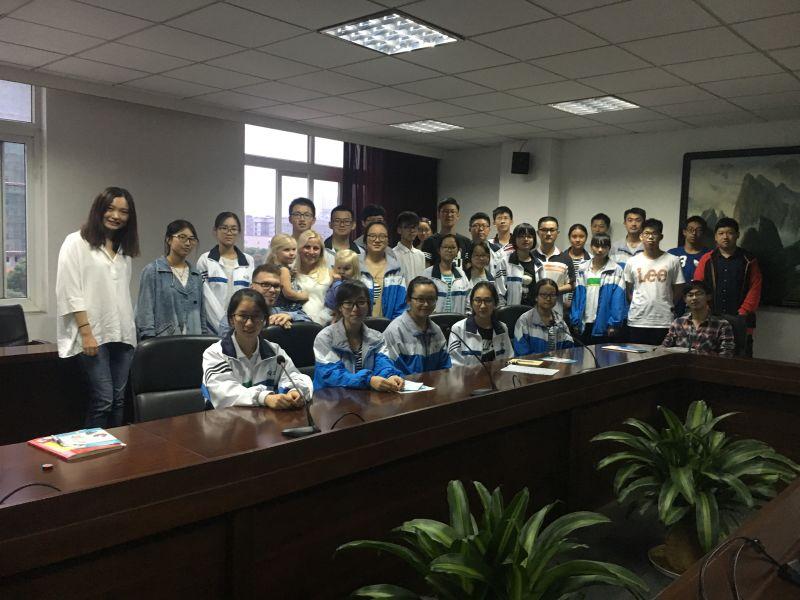 Ryhmäkuva Kiinassa