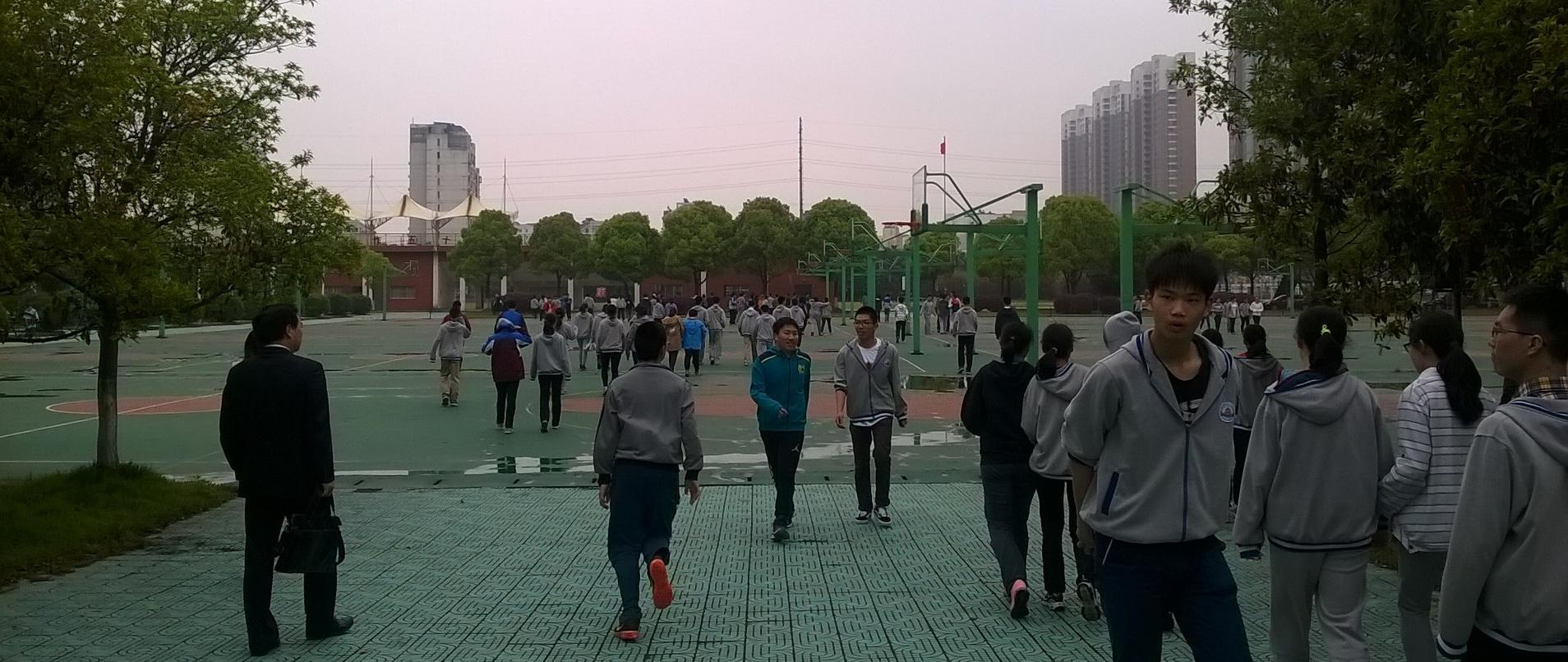 Kiina liikuntaa koulussa