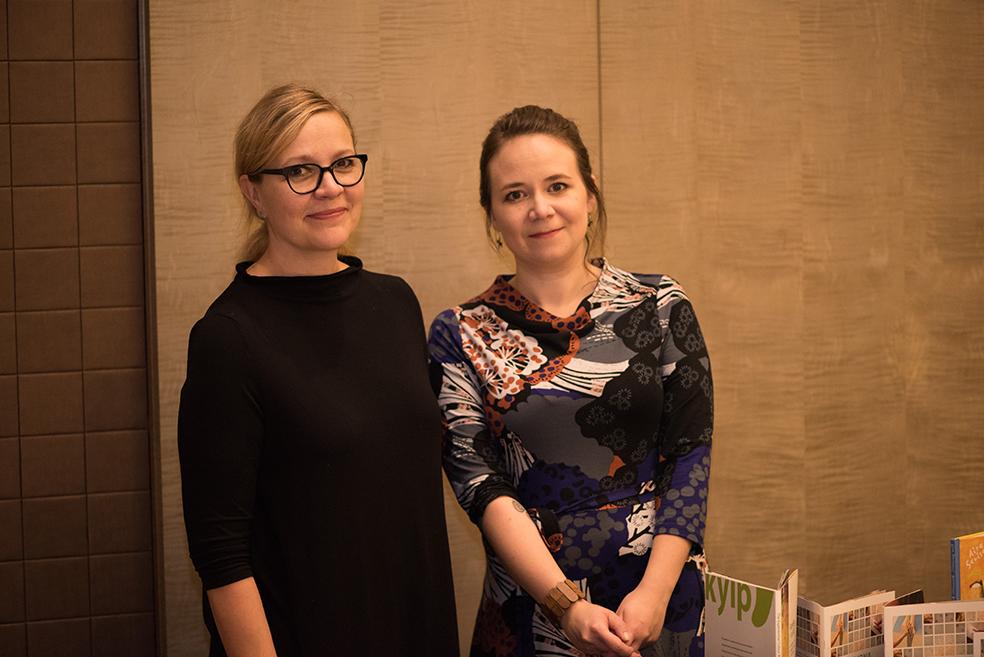Läänintaiteilijat Marjo Heino ja Karoliina Suoniemi.