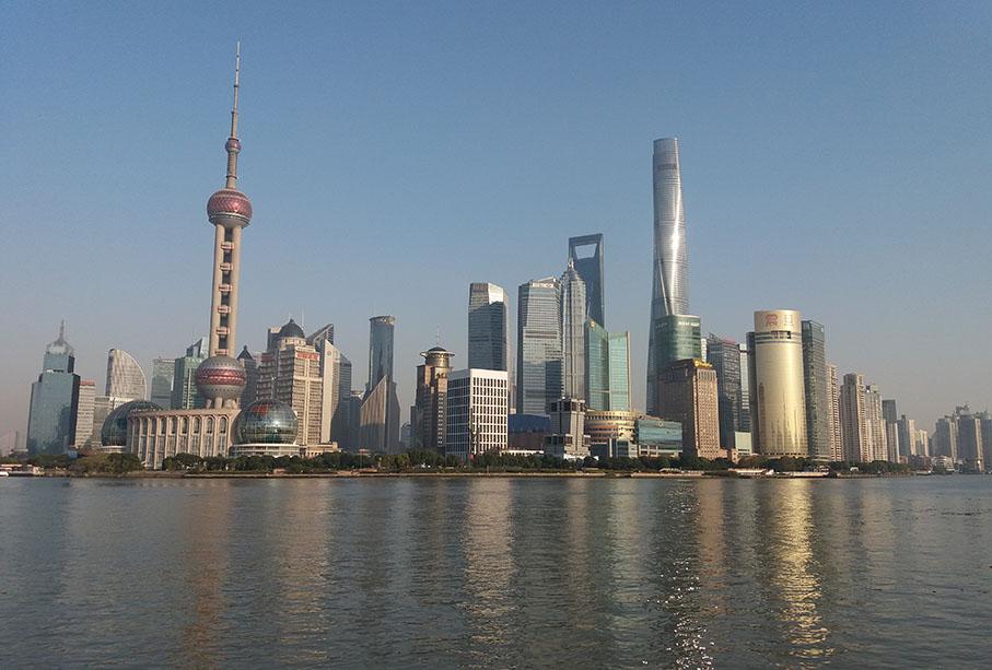 Näkymä Bundilta Shanghaista.Kuva SAMKin Kati Antola
